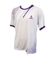 Mens Roundneck T-Shirt  - White/Purple