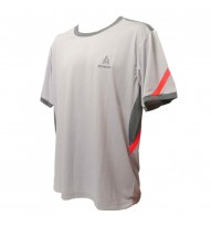 Mens Roundneck Tshirt - Grey/Coral