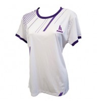Ladies Roundneck T-Shirt, White/Purple