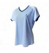 Ladies Roundneck Tshirt Navy/Sky Blue